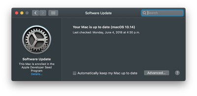 macos mojave system updates 0