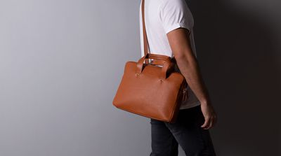 Harber London Everyday Leather Briefcase 4
