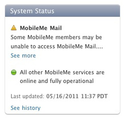 mobileme system status 051611