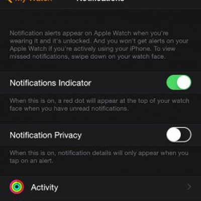 Notification Indicator Apple Watch