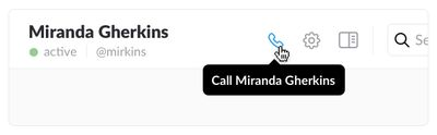 Slack app voice call