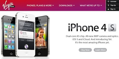 virgin mobile iphone banner