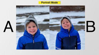 s21 vs iphone 12 portrait