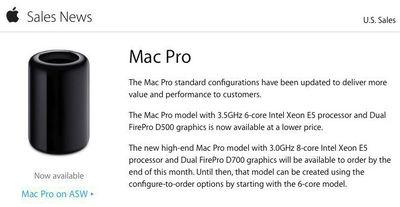 mac pro sales