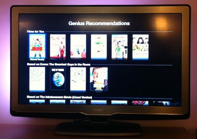 apple tv genius page