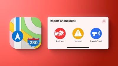 apple maps report incident red
