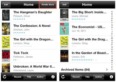 kindle app store removed