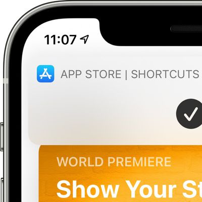 shortcuts home screen banner