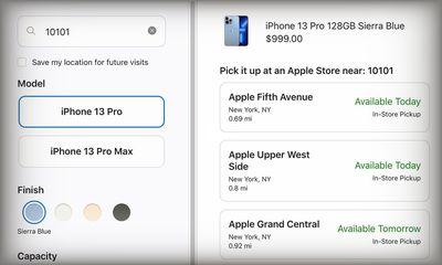 iPhone 13 Pro Apple Store Pickup