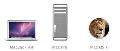 macbook air mac pro lion