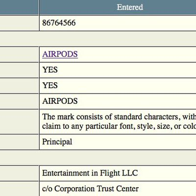 airpods trademark