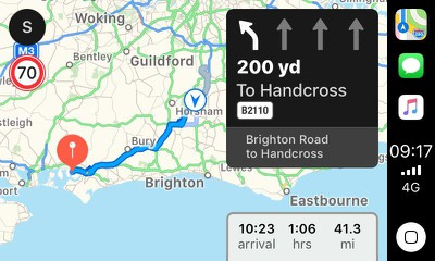 apple maps lane guidance uk