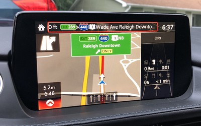 mazda connect nav turns