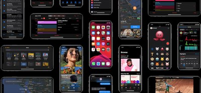 dark mode ios 13 collage