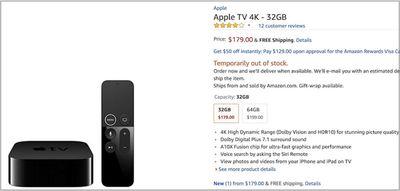 apple tv on amazon