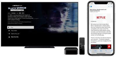 bandersnatch on apple tv