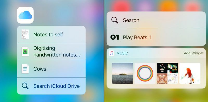 icloud-Music 3D Touch