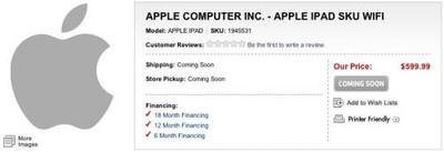 234313 best buy ipad wifi sku 500