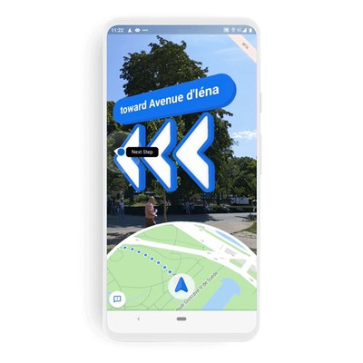 Google Maps Live View AR feature