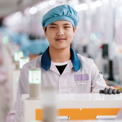 iphone production line operator china