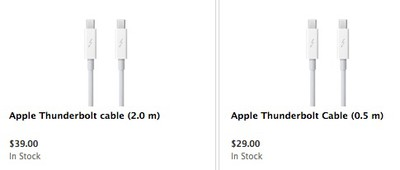 apple thunderbolt cables