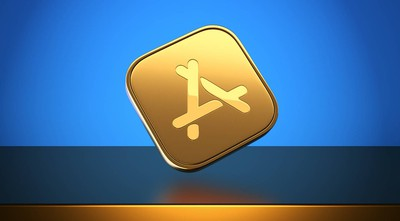 app store gold banner