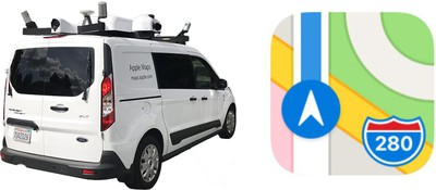 apple maps vehicle