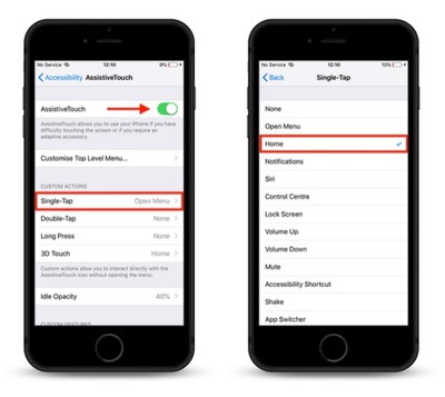how to create a virtual home button with assistive touch 3
