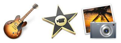 garageband imovie iphoto icons