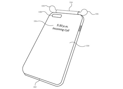 airpods iphone case patent top