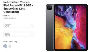 apple refurbished ipad pro 2020