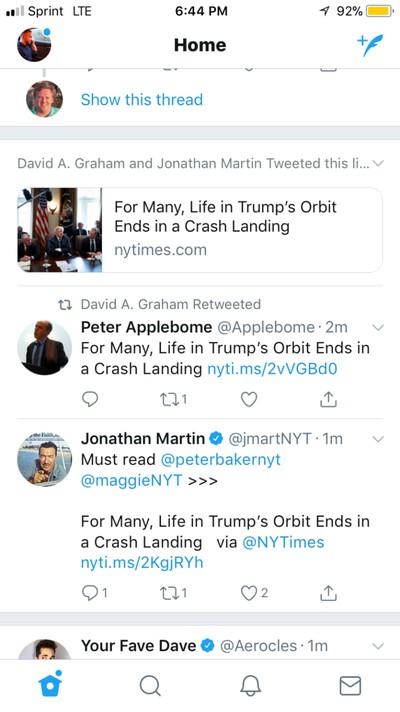 twitter news url feed
