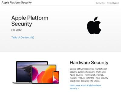 apple platform security site