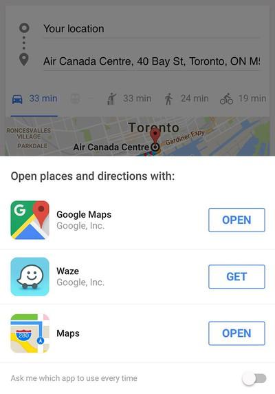 google app waze apple maps directions