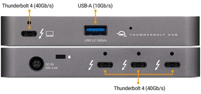 interfaces de concentrador de thunderbolt owc