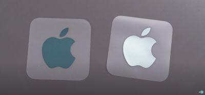 apple logo sticker imac color matched