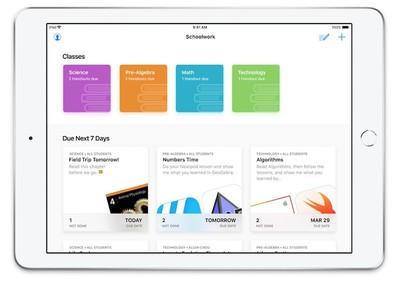 schoolwork app apple