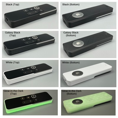 3d printed airtag case siri remote colors