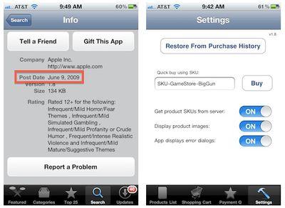 gamestore app listing settings