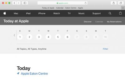today at apple eaton centre