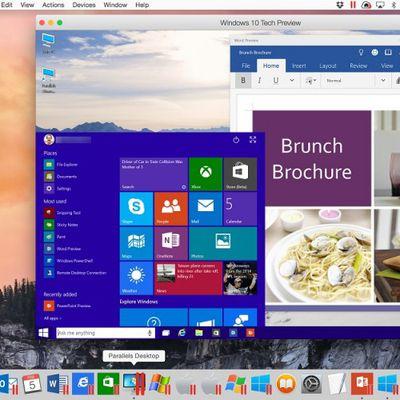 Windows 10 Tech Preview in Parallels Desktop