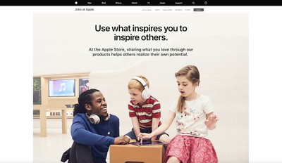 apple new retail page