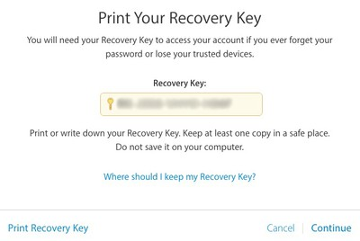 Apple-ID-recovery-key