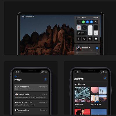 ios 13 dark mode concept 1