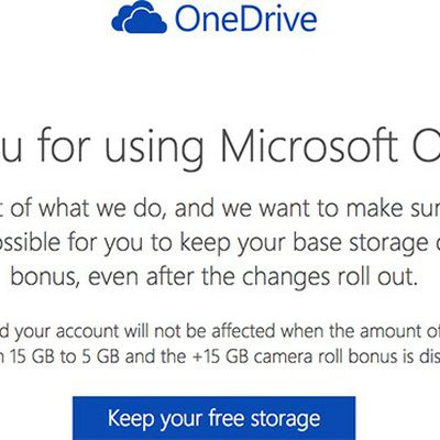 OneDrive Keep Free Storage