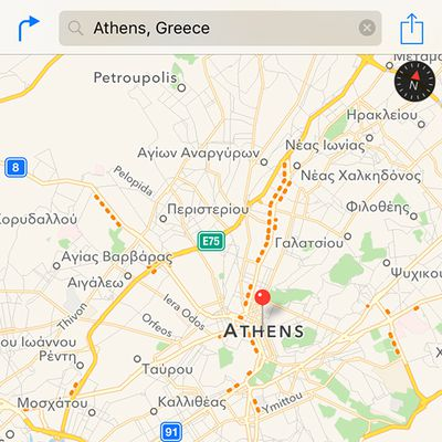 Apple Maps Traffic Greece