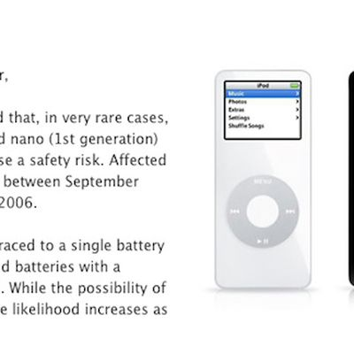 ipod nano replacement notice