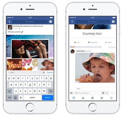 facebook gif comments