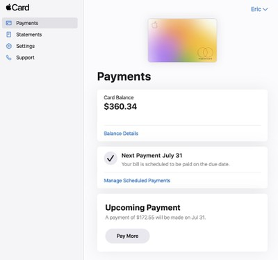 Apple launches Apple Card online portal