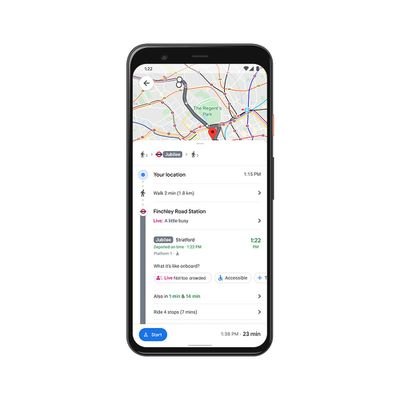 google maps crowdedness